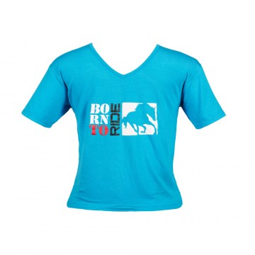 Born to Ride T-Shirt - Boys Sky Blue