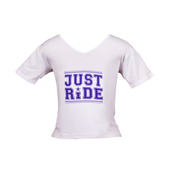 Just Ride T-Shirt - Girls White