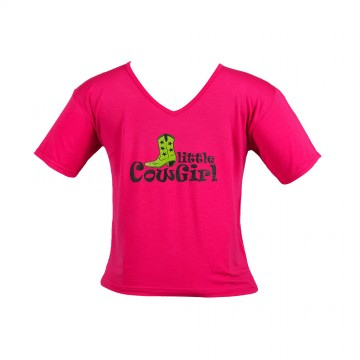 Little Cowgirl T-Shirt - Girls Pink