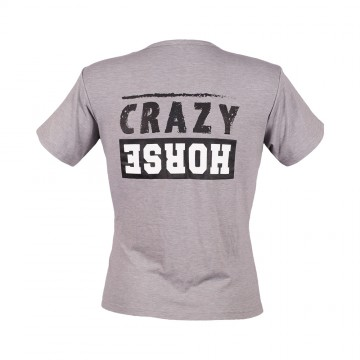 Crazy Horse T-Shirt - Mens Grey